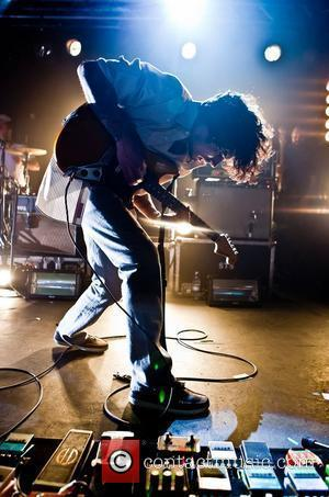 Vincent Accardi of American rock band Brand New open their UK tour at Rock City. Nottingham, England - 06.02.12