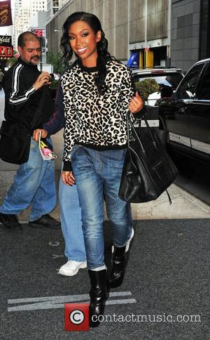 Brandy Norwood  returning to her midtown hotel  New York City, USA - 18.10.12