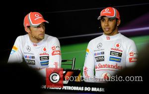 Lewis HAMILTON, GB, UK, Team McLaren-Mercedes F1 and Jenson BUTTON F1 Grand Prix in BRAZIL, Interlagos, Sao Paulo, Brazil -...
