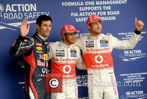 Mark WEBBER, Lewis HAMILTON, GB, UK,  and Jenson BUTTON -Team McLaren-Mercedes F1 -  F1 Grand Prix in BRAZIL,...