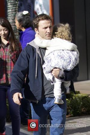 Breckin Meyer  seen with his daughter Caitlin Willow out Christmas shopping at The Grove Los Angeles, California- 21.12.12