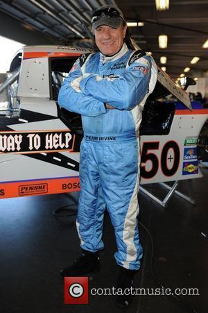 Brian Johnson of AC/DC appears during testing for Rolex Sports Car Series 'Rolex 24' at Daytona International Speedway  Daytona...