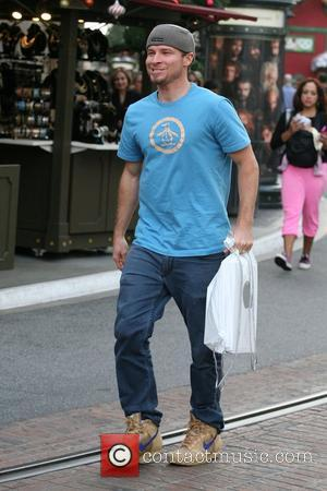 Brian Littrell of the Backstreet Boys seen shopping at the Apple store at the Grove  Los Angeles, California- 05.12.12