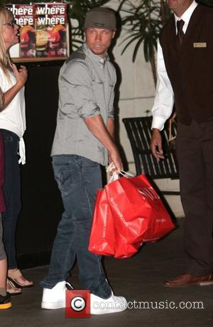 Brian Littrell shops at The Grove with his family Los Angeles, California - 05.11.12