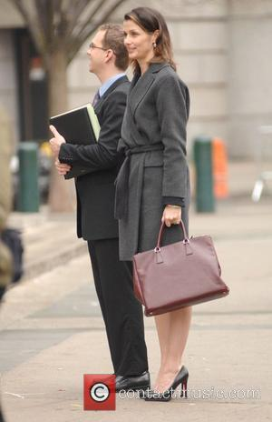 Bridget Moynahan on the set of 'Blue Bloods', filming on location in Manhattan New York City, USA - 21.03.12
