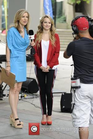Host Lisa Fromer and Bridgit Mendler  interview and performance on Global Toronto's Morning Show.  Toronto, Canada - 27.08.12