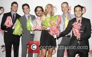 Tom Kitt, Andy Blankenbuehler, Alex Lacamoire, Amanda Green, Jeff Whitty and Lin-Manuel Miranda Broadway opening night of 'Bring It On...