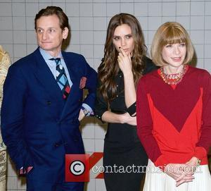 Hamish Bowles, Anna Wintour and Victoria Beckham