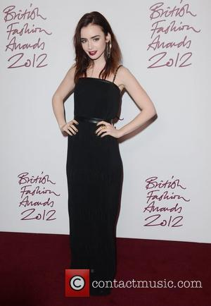 Lily Collins, British Fashion Awards, The Savoy, London and England