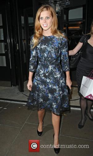 Princess Beatrice leaving The British Fashion Awards 2012 held at The Savoy  London, England - 27.11.12
