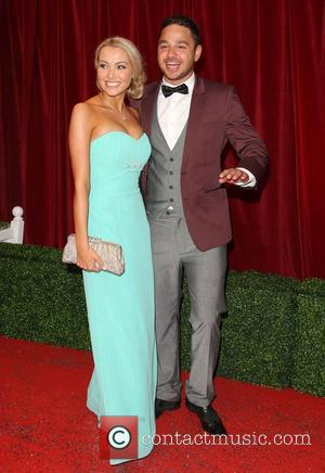 Adam Thomas and girlfriend Caroline Daly The British Soap Awards 2012 held at the London TV Centre - Arrivals London,...