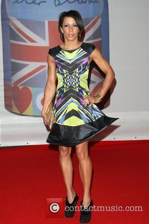Dame Kelly Holmes The Brit Awards 2012 held at The O2 - Arrivals  London, England - 21.02.12