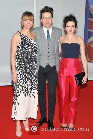 Sarah Cox, Nick Grimshaw The BRIT Awards 2012 at the O2 Arena - Arrivals London, England - 21.02.12