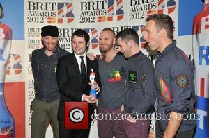 Coldplay The BRIT Awards 2012 at the O2 Arena - Press Room  London, England - 21.02.12