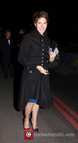 Tamsin Greig Broadcast Awards 2012 held at Grosvenor House - Outside Departures  London, England - 02.02.12