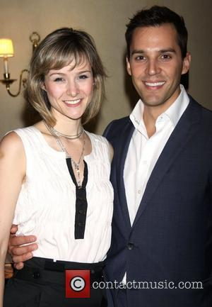 Jill Paice and Ryan Silverman  attending the post show reception for the 'Broadway Originals' concert held at The Town...