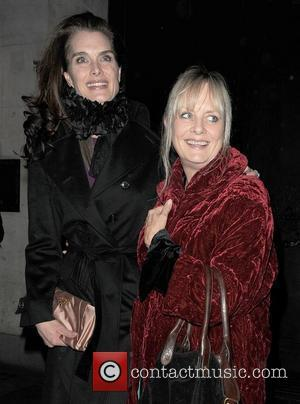 Brooke Shields and Twiggy