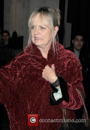 Twiggy (real name Lesley Lawson Hornby) leaving The Wolseley restaurant just before 1am, after a very late dinner London, England...