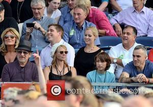 Steven Spielberg, wife Kate Capshaw and Daniel Day Lewis watch Bruce Springsteen perform at The RDS  Dublin, Ireland -...