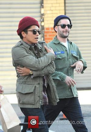 Bruno Mars out and about in Manhattan. New York City, USA - 04.04.12