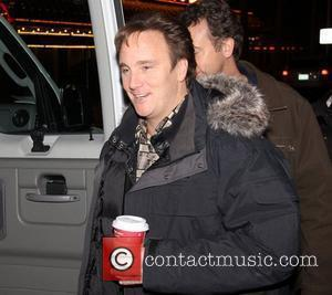 Jay Mohr on the film set of 'Burt Wonderstone' at Freemont Street in Las Vegas Las Vegas, Nevada - 13.01.12