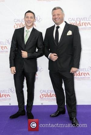 Kirk Norcross and Mick Norcross arriving at the 2012 Diamond Butterfly Ball in aid of Caudwell Children at Battersea Evolution....