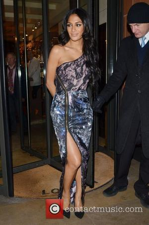 Nicole Scherzinger  X Factor judges outside C London restaurant, after earlier appearing on the live show London, England -...