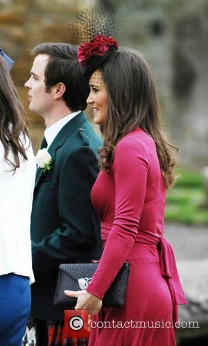 Pippa Middleton and Guest The wedding of Camilla Hook and Sam Holland in Scotland Scotland - 19.05.12