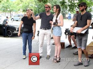 Director John Carney and Hailee Steinfeld  filming on the set of her new movie 'Can a Song Save Your...