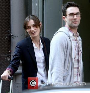 Adam Levine and Keira Knightley on the set of their new movie 'Can A Song Save Your Life?' New York...