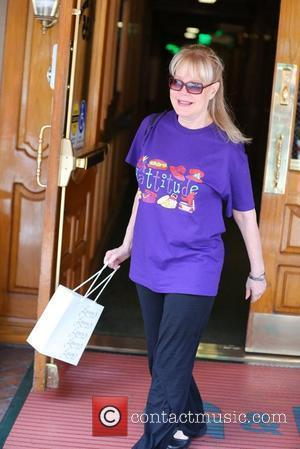 Candy Spelling seen exiting a medical building in Beverly Hills wearing a 'hattitude' T shirt Los Angeles, California - 16.08.12