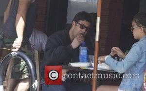 Actor Carlos Bernard from the tv show '24'  seen having breakfast with a female companion in Hollywood Los Angeles,...