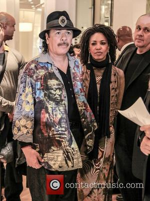 Cindy Blackman-santana and Carlos Santana