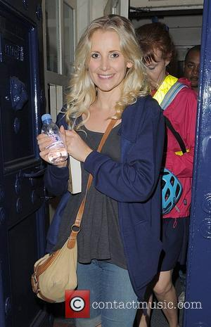Carly Stenson leaving the Theatre Royal, having appeared in 'Shrek: The Musical'. London, England - 02.08.12