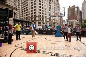 "Carmelo Anthony  Hosts the ""Power By Design"" Basketball Challenge to celebrate the launch of the 2012 Jeep Wrangler held..."