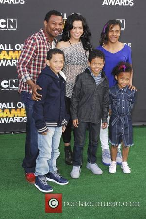 Shane Mosley, family  The 2012 Cartoon Network Hall of Game Awards - Arrivals Los Angeles, California - 18.02.12