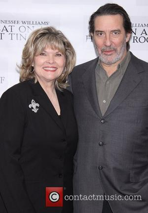 Debra Monk and Ciaran Hinds at the photo opportunity for 'Cat On A Hot Tin Roof', held at Sardi's restaurant....