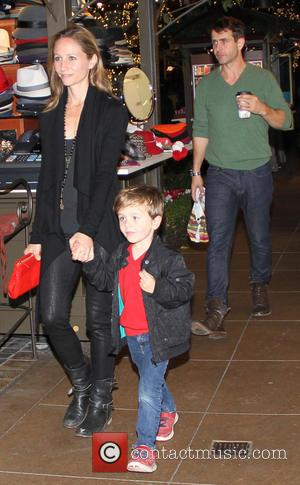 Joey Mcintyre and his family celebrate his son Griffin's birthday at the Cheesecake factory before visiting Sants'a Grotto at the...