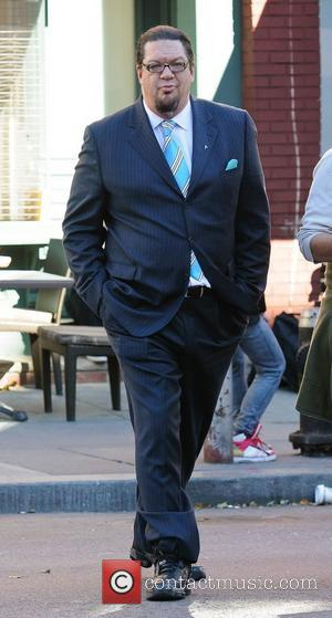 Penn Jillette on the set of 'Celebrity Apprentice' New York City, USA - 16.10.12