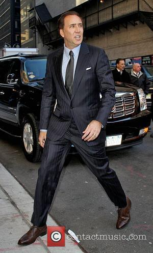 Nicholas Cage Celebrities arrive at the Ed Sullivan Theater for 'The Late Show with David Letterman'  New York City,...