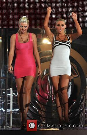 Kristina and Karissa Shannon Celebrity Big Brother Live Final held at Elstree Studios. London, England - 27.01.12
