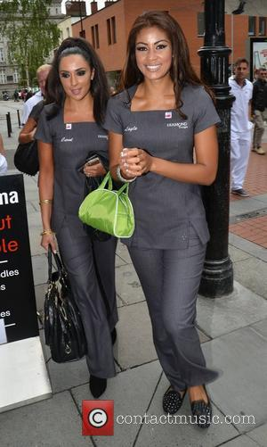 Carol Anthony, Layla Flaherty The contestants of TV3's Celebrity Salon go for lunch at Wagamama while shooting the reality show...