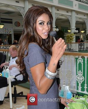 Layla Flaherty TV3's Celebrity Salon contestants give out free manicures in the Stephens Green Shopping Centre Dublin, Ireland - 16.06.12.