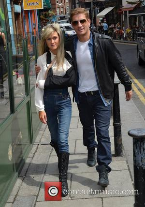 Philip Olivier and Nikki Grahame TV3 Celebrity Salon stars meet the press at Alfies after finishing filming the reality show...