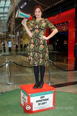 Pearl Lowe The Huffington Post UK Celebrity Soapbox event held at Westfield Shopping Centre Stratford London, England - 06.12.11