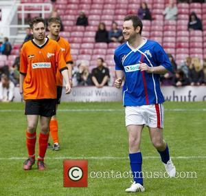 Danny Dyer (R) Celebrity Soccer Six match, held at West Ham Football Club grounds in Upton Park London, England -...