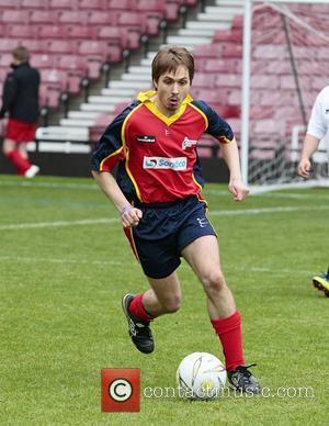 Joe Thomas Celebrity Soccer Six match, held at West Ham Football Club grounds in Upton Park London, England - 20.05.12
