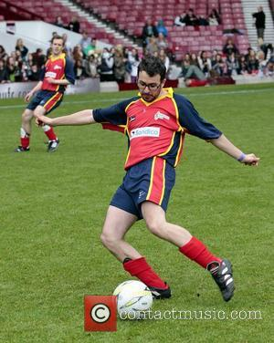 Simon Bird Celebrity Soccer Six match, held at West Ham Football Club grounds in Upton Park London, England - 20.05.12