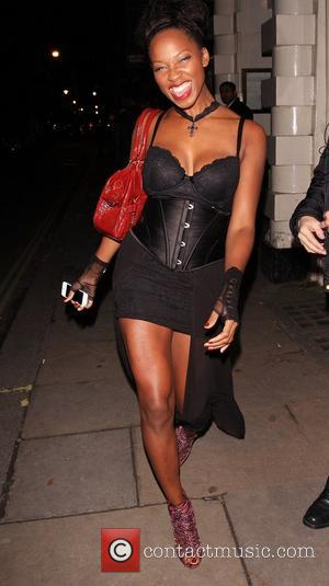 Jamelia  Celebrities leaving Low Club after attending the Angel Halloween Party in Mayfair London, England - 30.10.12