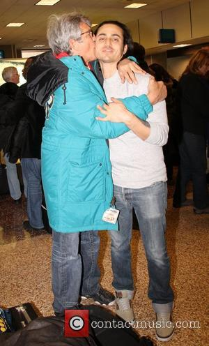 Eric Roberts and his son Keaton Simmons Celebrities arrive at Salt Lake City International Airport for The Sundance Film Festival...
